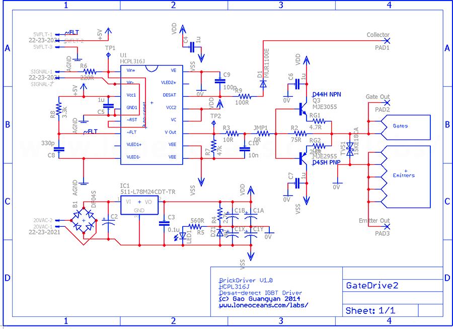 Sales Brickdriver Opto Isolated Discrete Gate Driver
